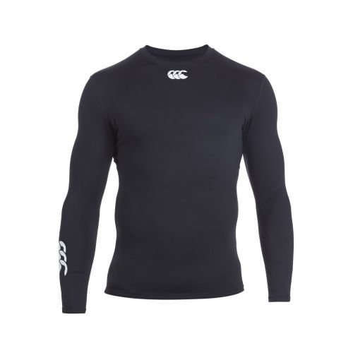 CANTERBURY LONG SLEEVE COLD BASE LAYER BLACK SENIOR